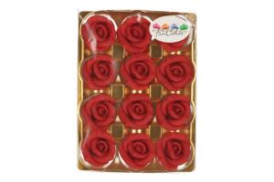 FUNCAKES MARZIPAN 12 ROSES RED