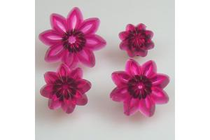 JEM Pointed 8 Petal Daisy set/4