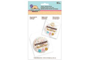 Wilton Doughnut Treat Envelopes with Sticker pkg/6