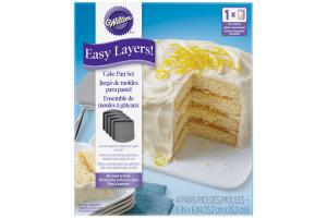Wilton Square Cake Pan Easy Layers -15cm- Set/4