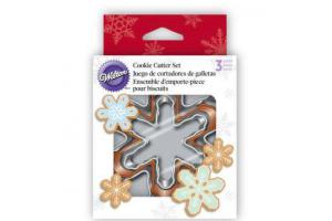 Wilton Cookie Cutter Set Nesting Snowflake set/3