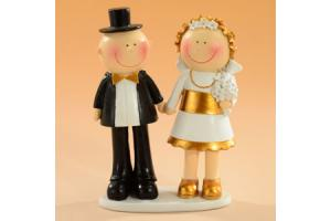 Decorative Figure Wedding Gold Brautpaare