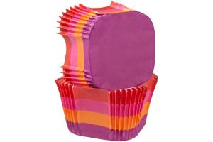 Wilton Square Baking Cup -Warm Stripes- pk/24