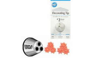 Wilton Decorating Tip #2010 Multi-Opening Star Carded*