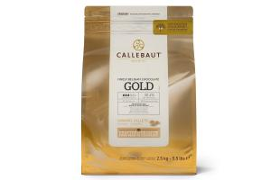 CALLEBAUT CHOCOLATE CALLETS -GOLD- 2,5 KG