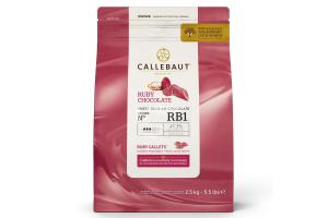 CALLEBAUT CHOCOLATE CALLETS -RUBY- 2,5 KG