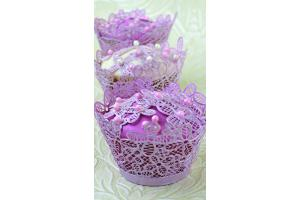 Victoriana Cupcake Wrapper 3D Lace Mat - Cake Lace Mat By Claire