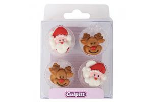 Culpitt Sugardecorations Santa & Rudolph pk/12