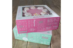 FunCakes Cake Box -Quotes- 32x32x11.5cm pk/2