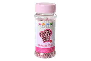 FunCakes Zuckerperlen 4mm rosa Metallic g-80