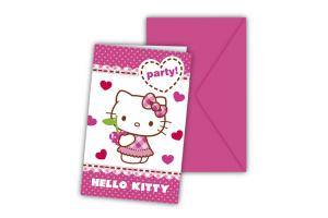Hello Kitty Einladungskarten 6 stk
