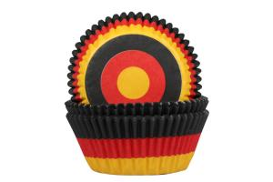 HoM Baking cups Deutsch Flagge  - pk/50