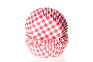 HoM Baking cups Ruit Rot - pk/50