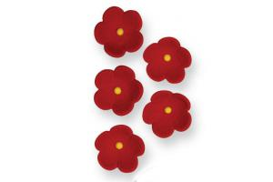 PME Medium Red Blossoms Pkg/30