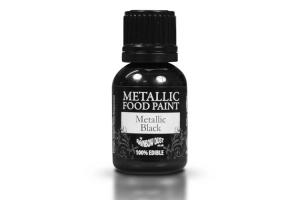 RD Metallic Food Paint Schwarz 25ml